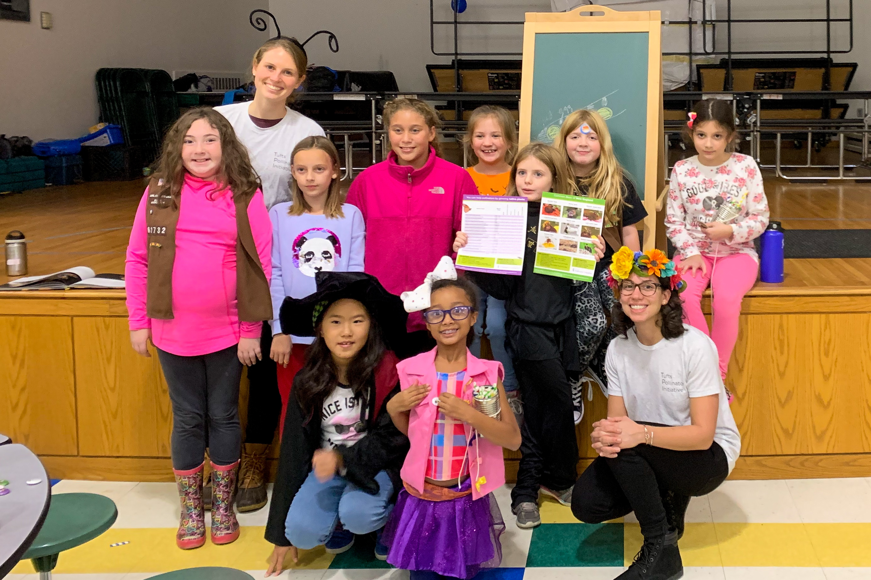 Rachael E. Bonoan and girl scout troop