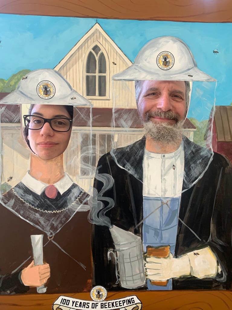 Rachael E. Bonoan and beekeeper