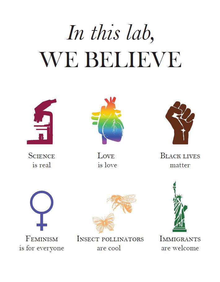 Lab pledge poster